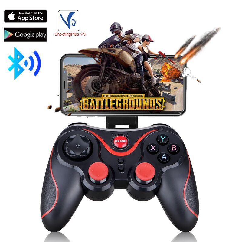 New T3 Bluetooth <font><b>Wireless</b></font> Joystick Gamepad bluetooth Game <font><b>Controller</b></font> BT3.0 Joystick For Mobile Phone PS3 <font><b>PC</b></font> For Android TV Box image