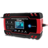 Car AGM Charger 12/24V 3 stage LCD Touch Screen Pulse Motorcycle Lead Acid Battery Repair Type AGM Gel Wet Car Charger