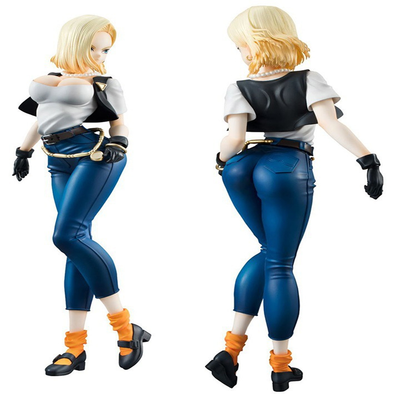 10PCS <font><b>Dragon</b></font> <font><b>Ball</b></font> Z Android 18 Lazuli Big Chest <font><b>Sexy</b></font> Kuririn Wife Toys Collection Anime Action <font><b>Figure</b></font> For Gift image