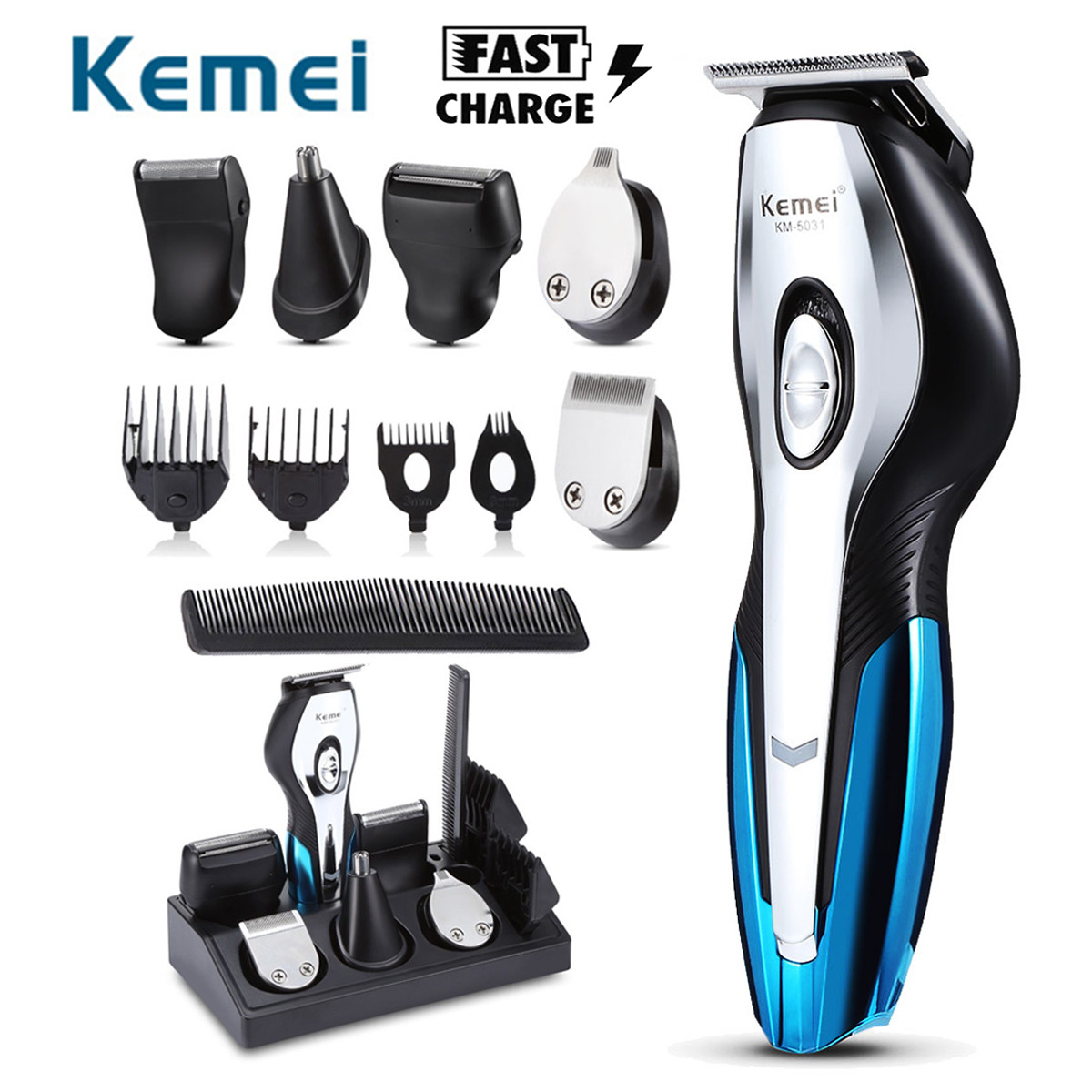 11 In 1 Electric Hair Trimmers Rechargeable Hair Clipper Electric Shaver Beard Trimmer Men Shaving Machine Cutting Nose Trimmer