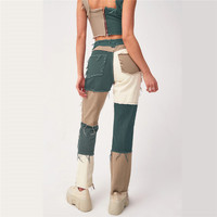 High Waist Straight Denim Pants Women Casual Skinny Ripped Jeans  1