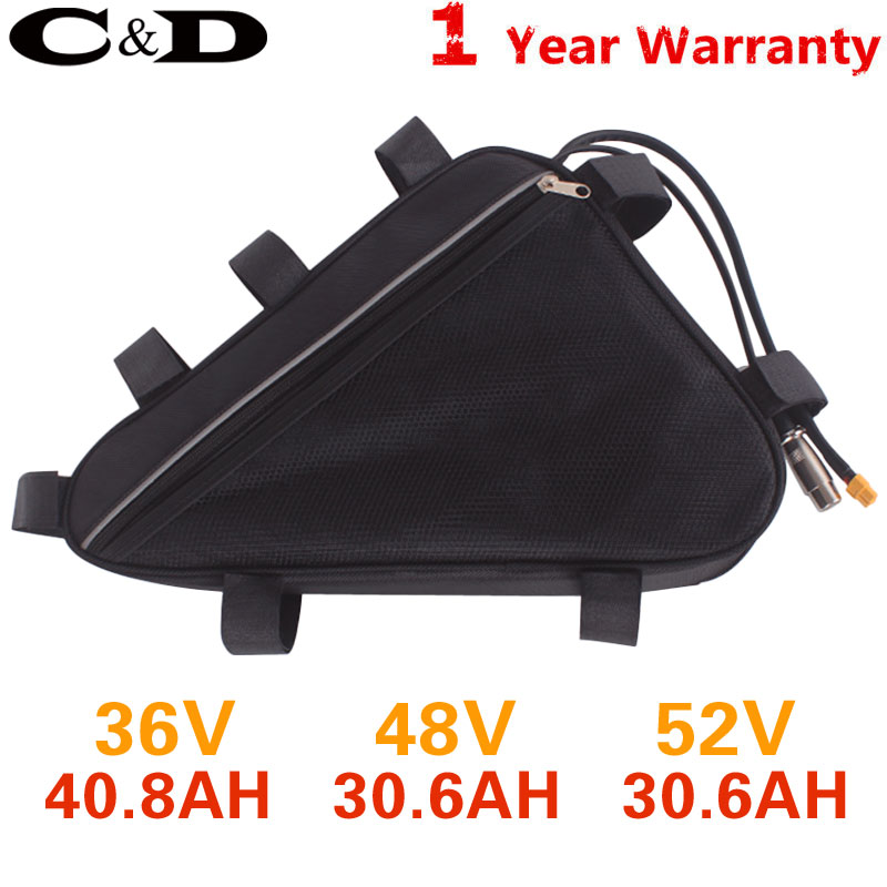 Waterproof Triangle Battery Carry Containment Bag For Electric Bike Equipment