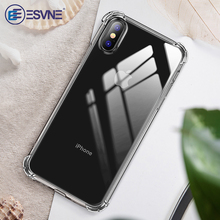 ESVNE Shockproof Phone Case For iphone 11 Pro Max Case X Xr Xs Max Silicone Phone Cases For iphone 8 7 6 6S Plus Back Cover custom name phone cover for iphone 6 6s 7 8 plus x xs max xr liquid silicone phone cases for 11 pro max candy shockproof cover
