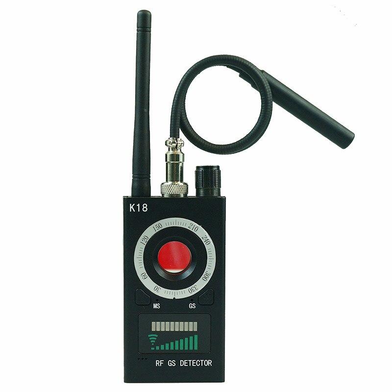 1mhz-6.5ghz k18 multi-função detector anti-espião câmera gsm áudio bug finder gps sinal lente rf rastreador detectar chek sem fio