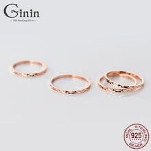 Ginin реальные 925 пробы Серебряное кольцо для Для женщин человек