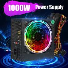 MAX 1000W alimentation PFC ventilateur silencieux ATX 20pin 12V PC ordinateur SATA Gaming PC alimentation pour ordinateur Intel AMD