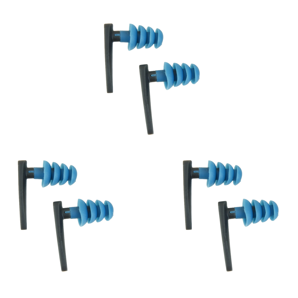 3x Pair Swimming Surfing Ear Plug Earplug Water Sports Ear Protectors Waterproof Earplugs Water Sports Swimming Accessories