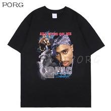 Tupac – t-shirt noir Shakur Hip Hop, Streetwear, célèbre, grand et jeune, Thug Koba La J Cole, rappeur Makaveli