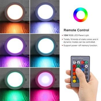 Oświetlenie panelowe LED 5W 10W 18W okrągły RGB oświetlenie panelowe sufitowe nowoczesny kryty oprawa wpuszczana oprawa oświetleniowa AC85-265V tanie i dobre opinie LemonBest Ceiling Lamp Awaryjne 1 Year Aluminium 85-265 v 485lm LED Panel Light ROHS 120°