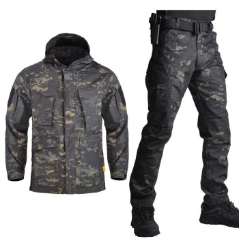 Outdoor M65 Tactical Airsoft Jacket Suits Camouflage Jacket Set Men Army Hunting Jackets Military Waterproof Jacket Windbreaker soqoool tactical softshell camouflage jacket set army windbreaker waterproof hunting clothes military uniform jackets and pants