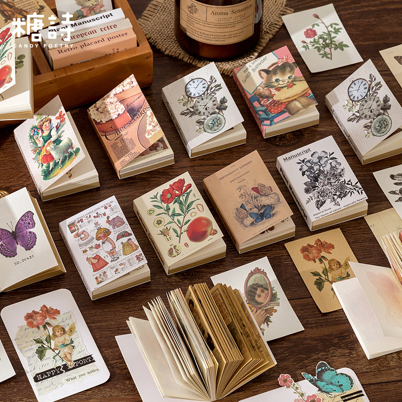 80pcs/lot Memo Pads Sticky Notes Time show paper Junk Journal Scrapbooking Stickers Office School stationery