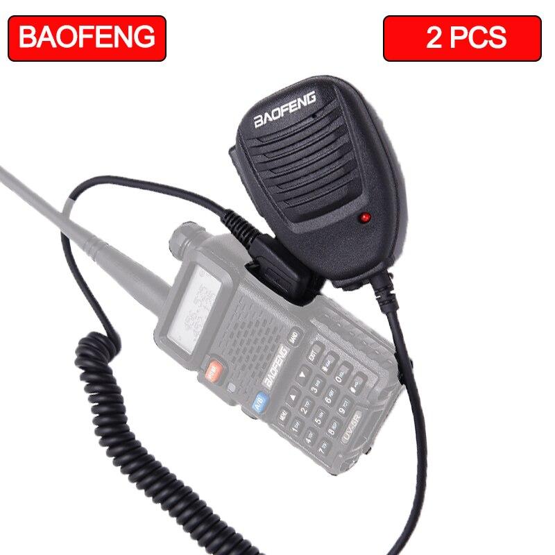 2PCS Baofeng Microphone Speaker Microphones For Walkie Talkie K Mouth Suitable  Baofeng UV-5R UV-5RE UV-82 888s KSUN X30  KS-XKB