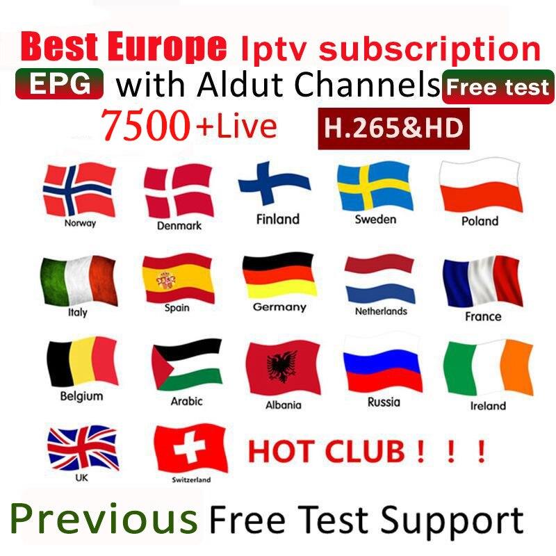 IPTV M3u Subscription 1 Year Sweden Iptv Italy French Spanish UK German Mediaset Premium For Android TV Box M3u Enigma2 Smart