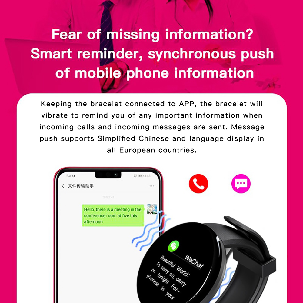 H1d6e9ace5e2d41bab33062585c7bf19ds Smart Watch D18 Blood Pressure Fitness Tracker Round Smartwatch Waterproof Sports Smart Watch Men Women For Android Ios Z2