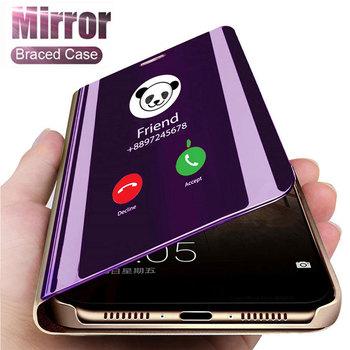 Inteligentne lustro etui na telefon do Xiaomi Redmi Note 9 s 8 7 K20 5 6 Pro 8T 8A 4X 7A 5 Plus Mi 10 uwaga 10 Lite 9 SE A1 A2 5X 6X pokrywa tanie i dobre opinie ESSUIAL Etui z klapką Smart Mirror Stand Phone Case For Xiaomi 4X Redmi Nocie Redmi Note 4 Redmi 5A Redmi 5 Plus MI 8 SE
