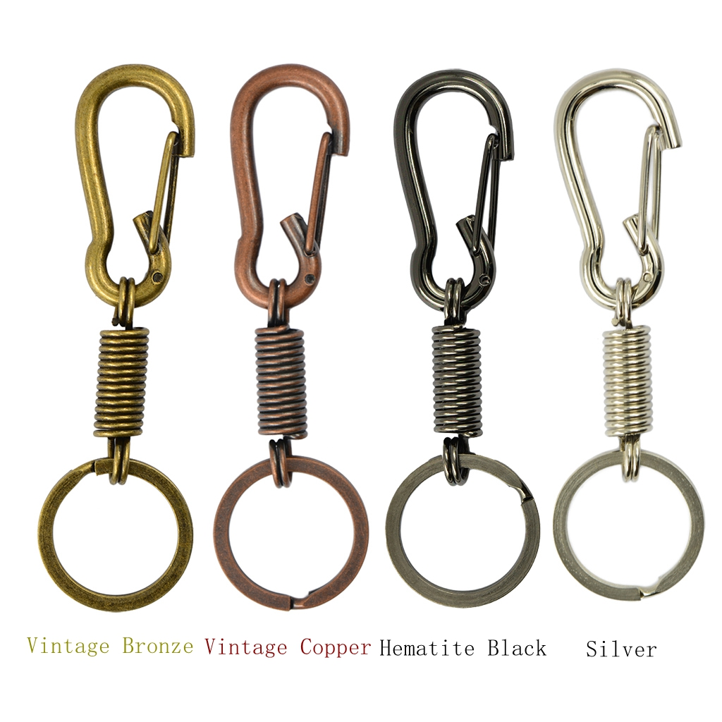 Keychain Carabiner Buckles Spring Snap Hooks Swivel Key Holder Clip