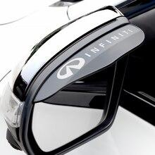 Автомобильное боковое зеркало заднего вида, козырек от дождя, защита от дождя, декоративные аксессуары для Infiniti FX35 Q50 QX60 ESQ EX JX35, 2 шт.