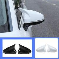 1 par de carro auto espelho retrovisor escudo capa proteção capmatte para audi b9 a4 a5 s4 espelho retrovisor capa nova chifre boi Kit de retrovisor dobrável    -