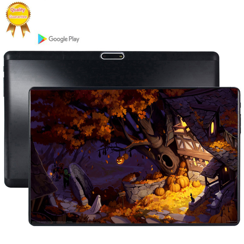 Multi-touch Glass Screen 10.1 Inch Octa Core 3G FDD LTE Tablet 6GB RAM 128GB ROM Dual Cameras Android 9.0 Tablet 10 Pocket PC