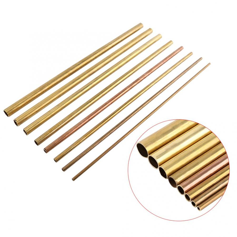 6/8/10/12/14/16/18/20mm Brass Tube Woodworking Tool Parts 50cm Round Copper Pipe OD Model Making Hardware Accessories Connector