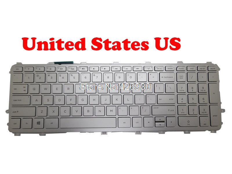 New for HP 15-J009WM 15-J053CL 15-J073CL 15-J175NR US Backlit keyboard silver