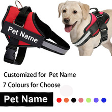 Personalized Dog Harness Reflective Breathable Adjustable Pet Harness For Small Dogs Accessories Custom Name Patch Pets Suppiles