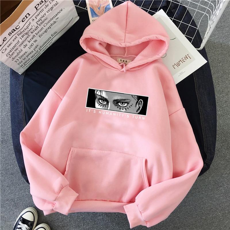 Anime Attack on Titan Hoodie Eren Yeager Print Classic Sweatshirts Funny Cartoon Harajuku Womens Mens Hip Hop Streetwear Jacket 9