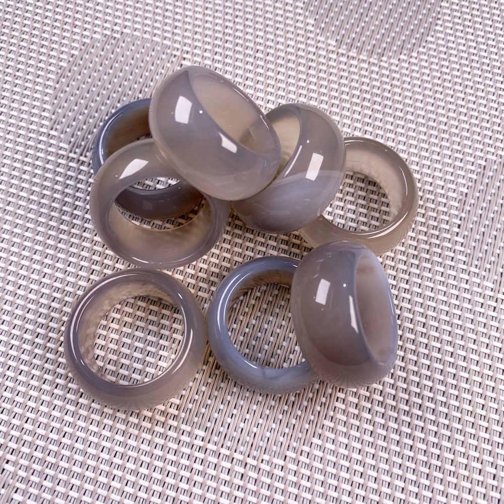 Anelli di Pietra Naturale Dei Monili di Una Varietà di Pietre Due Tipi di Modelli Unisex Cerchio di Pietra Naturale Anelli di Barretta di Fascini 12 millimetri di Larghezza