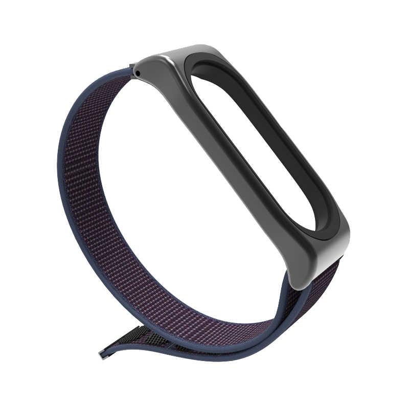 Mi posti di lavoro mi fascia 4 Nyion Loopback Strap Accessori Per Xiao mi mi fascia 4 3 del Braccialetto del polso Intelligente Orologio wristband mi fascia 4 3 cinghia