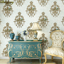 цены Carved European Damascus papel de parede 3D wallpaper for walls 3 d mural wallpaper roll for walls living room 3d wall paper