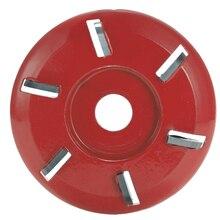 Sześć zębów moc tarcza do rzeźbienia w drewnie narzędzie frez do drewna Turbo Carving Disc narzędzie frez do szlifierki kątowej 16mm