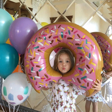 40*50cm Donut Shaped Balloon Toys Birthday Party Decoration Toys for Children Inflatable Aluminum Foil Balloons Balloon Toys
