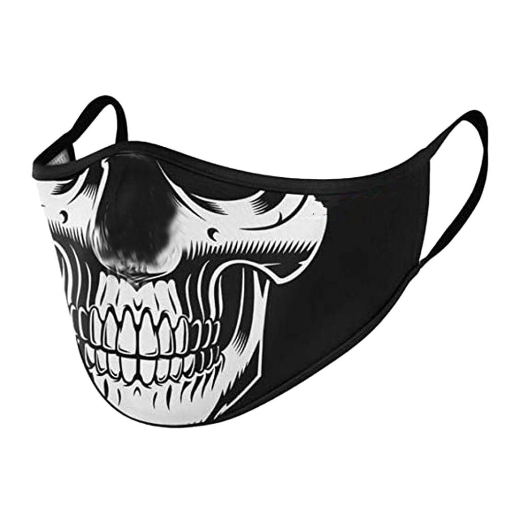 Летняя маска с принтом черепа для взрослых Маска для лица с защитой от пыли Pm2.5 маска для рта фильтры маска для лица с цветком многоразовая маска для рта|Женские маски|   | АлиЭкспресс