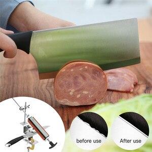 Image 3 - 2020 Iron Steel Knife Sharpener Professional Knife Sharpener fixed angle with 4 stones Whetstones System Sharpening Tool