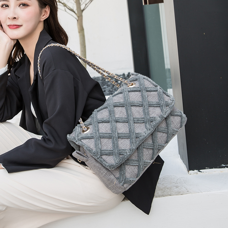 Fashion Large Shoulder Bag Women Travel Bags Canvas Quilted Bag Female Luxury Handbags Women Bags Designer Sac A Main Femme