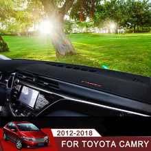 Car Dashboard Covers Mat Shade Cushion Pad Carpets Interior Accessory LHD For Toyota Camry 2012 2013 2014 2015 2016 2017 2018