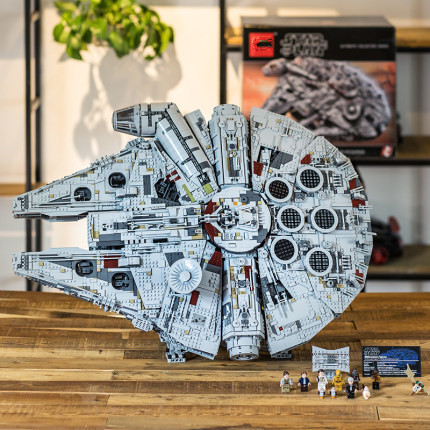 05132 New Millenniums 8445pcs 75192 Compatible Legoinglys Star Wars Falcon Series Ultimate Collectors Model Building Bricks Toys
