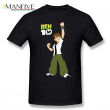 Ben 10 T Shirt Cartoon Print  T-Shirt Male Beach Tee Cotton Short Sleeve Fun 5x Tshirt