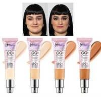 Corrector de cara It cosmeticos CC + iluminación de crema FPS 50 cubierta completa medio o luz maquillaje