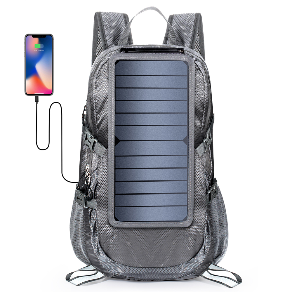 Solar Powered Packable Backpack 30L Lightweight Foldable Durable Bag For Women Men Travel Hiking Backpacking Camping Outdoors