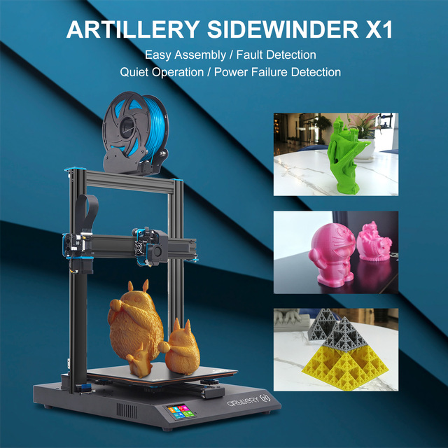Artillery 3D Printer Kit Sidewinder X1 SW-X1 High Precision Large Plus Size 300*300*400mm Dual Z Axis TFT Touch Screen 4