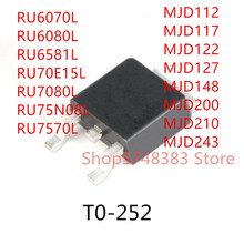 10PCS RU6070L RU6080L RU6581L RU70E15L RU7080L RU75N08L RU7570L MJD112 MJD117 MJD122 MJD127 MJD148 MJD200 MJD210 MJD243 TO-252