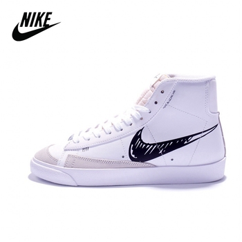 Original Nike Blazer Mid 77 Vintage Brick Red Mid-Top Casual Sports Skateboard Shoes For Men Sneaker CW7580-101 40-45