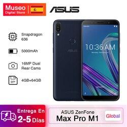 Globalna wersja 2018 ASUS ZenFone Max Pro M1 ZB602KL Smartphone 4GB 64GB 6.0 cala 4G LTE 5000mAh telefony komórkowe Snapdragon 636