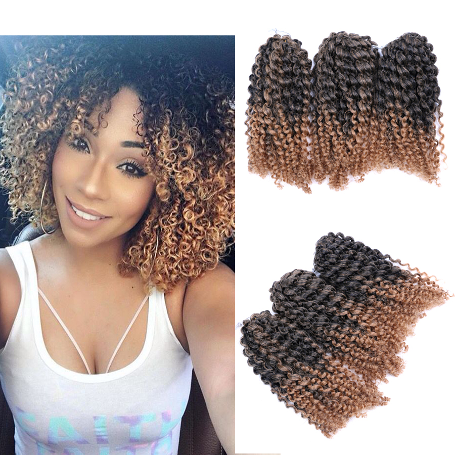 """Dairress 8 """"афро кудрявые вьющиеся волосы крючком косички"""