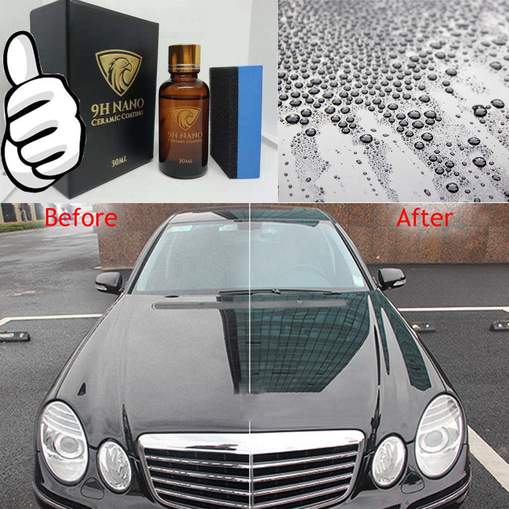 Liquid Glass 9H Hydrophobic Ceramic Coating Car Polishes Anti-scratch Motorcycle Paint Care Auto Detailing Glasscoat Car Polish