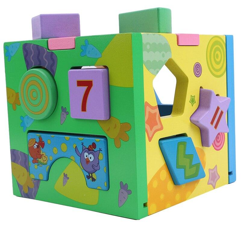 2020 Intelligence Case pour enfants blocs de construction amovible bébé jouet coloré en bois démonter et assemblé librement