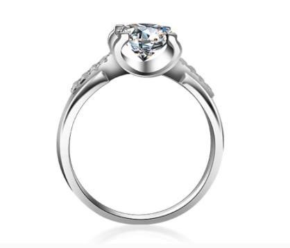 925 sterling silver 1ct  Round Brilliant Cut Ring VVS1 Diamond Moissanite ring Engagement jewelry Anniversary Ring