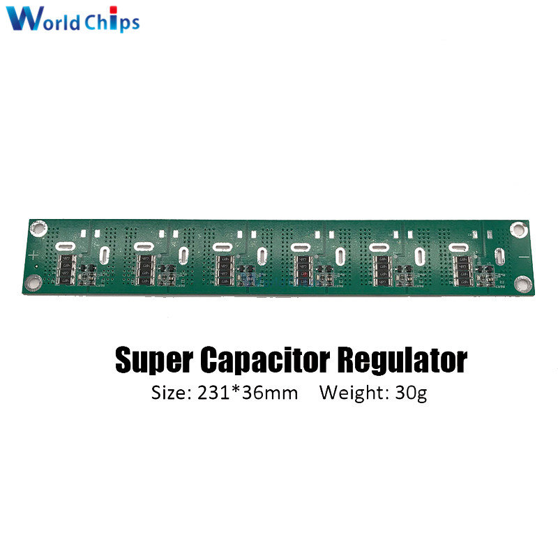 2.5-3V 360F <font><b>400F</b></font> 500F 700F 6PCS/Set Single Row <font><b>Super</b></font> Farad <font><b>Capacitor</b></font> Balancing Protection Board 4 Pin <font><b>Capacitor</b></font> Protection Board image