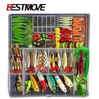 Full Kit Fishing Lures Set Mixed Hard Plastic Wobblers Metal Jig Spoons Soft Lure Silicone Bait Fishing Tackle Accessories Pesca